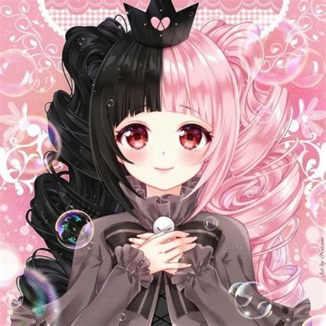 anime girl with eyepatch and black hair pastel goth anime tumblr
