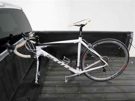 bed bike rack yakima locking blockhead single bike truck bed mounted
