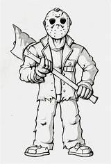 Coloring Jason Coloriage Peur Fait Qui Halloween Adult Sheets sketch template
