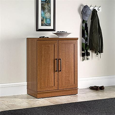 sauder home plus sienna oak storage cabinet 411967 the