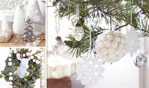 white  silver decorations  christmas