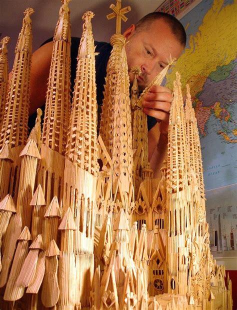 bangunan megah terbuat  tusuk gigi
