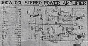 300w Power Amplifier Ocl Circuit