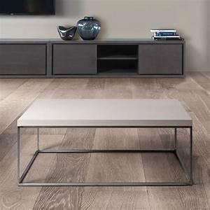 Table Basse Bois Et Metal : table basse carr e bois et metal brin d 39 ouest ~ Dallasstarsshop.com Idées de Décoration