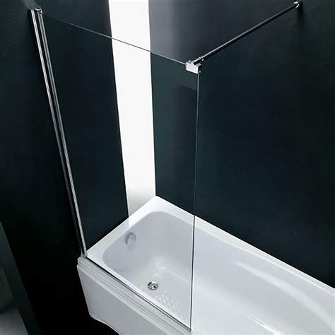 lade da bagno a parete sopra vasca parete in cristallo 73 cm fissa trasparente