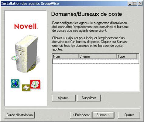 bureau de poste agen novell documentation groupwise 7 configuration d un