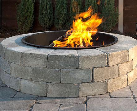 unilock fireplace kits price unilock sunset pit kit pine landscape