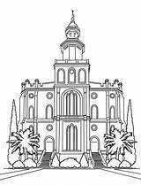 Lds Temple Coloring Pages Utah George St Latter Saints Drawing Jesus Church Christ Printable Getcolorings Nauvoo Getdrawings sketch template
