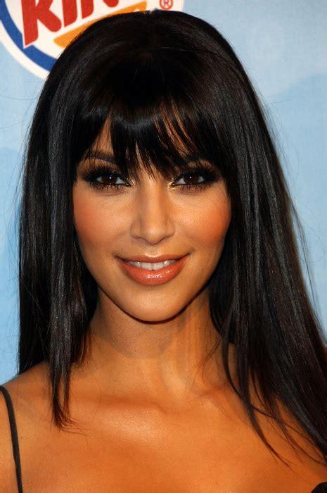 pictures kim kardashian hairstyles   years kim