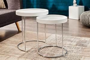 Beistelltisch Set Weiß : beistelltisch two way 2er set weiss silber 36957 5096 ~ Frokenaadalensverden.com Haus und Dekorationen