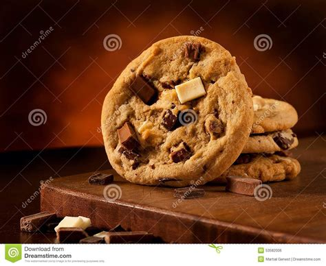 Triple Chocolate Cookies Royalty-free Stock Photo