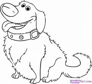 How to Draw Dug from UP, Step by Step, Disney Characters ...