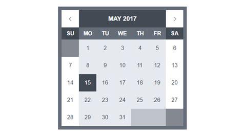 Datepicker Html Template by 35 Free Calendar Html Templates Utemplates