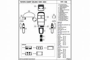 2001 Toyota Solara Dash Kits
