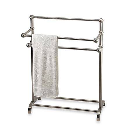 towel rack stand 3 tier free standing towel stand in satin nickel bed