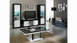Meuble Avec Vitrine : meuble tv moderne 2 portes noir et blanc nevis gdegdesign ~ Teatrodelosmanantiales.com Idées de Décoration