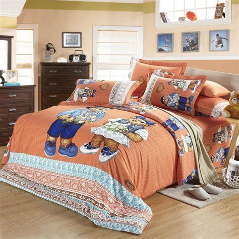 teddy bear bed sheet bedding set king queen size full