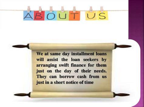 Same Day Installment Loans- Great Alternative To Borrow