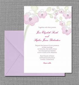 free pdf download elegant orchid invitation card With edit wedding invitations for free