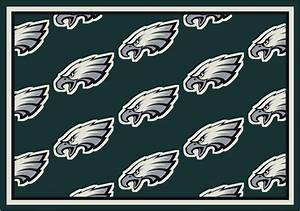 Philadelphia Eagles Repeat Logo Area Rug