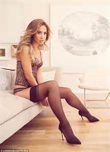 Leopard Print Living Room by Myleene Klass Models Lingerie From Her New Littlewoods