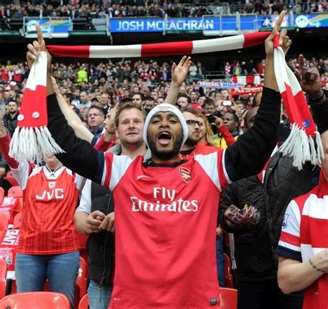 Arsenal fan before the match. Arsenal 1:1 Wigan Athletic ...