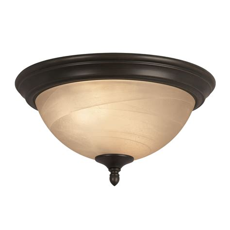 in ceiling light shop portfolio 13 in w rubbed bronze flush mount light