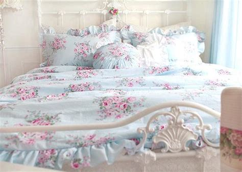 shabby chic king bedding king queen double single shabby princess floral chic blue duvet quilt cover set ebay