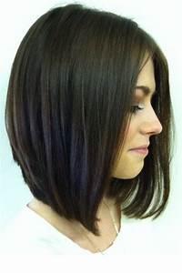 Carré Mi Long Plongeant : coupe de cheveux carre plongeant mi long ~ Dallasstarsshop.com Idées de Décoration