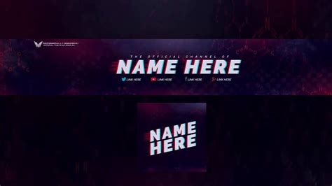 top   youtube banner template logo template