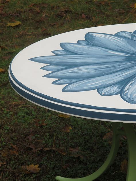 hometalk painted patio table salvaged from the