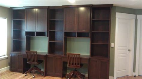 Bookcases Denver by Bookcase With Built In Desks Modern Family Room