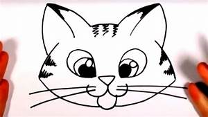 How To Draw A Cute Kitten Face - Tabby Cat Face Drawing ...