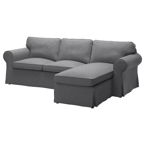 chaises ik a ektorp two seat sofa and chaise longue nordvalla grey