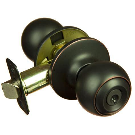 exterior door knobs piedmont rubbed bronze keyed entry door knob ebay