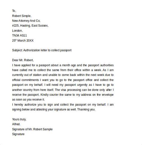 passport authorization letter   samples