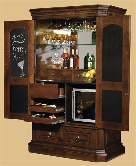 bar cabinet with wine fridge tall bar cabinet with chalkboard interior door plus glass