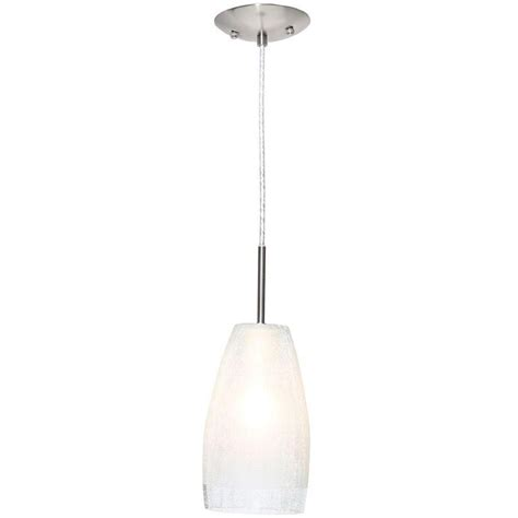 home depot pendant lights kitchen eglo crash 1 light matte nickel hanging ceiling pendant 7146