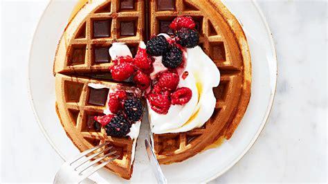wheat waffles  greek yogurt  mixed berries