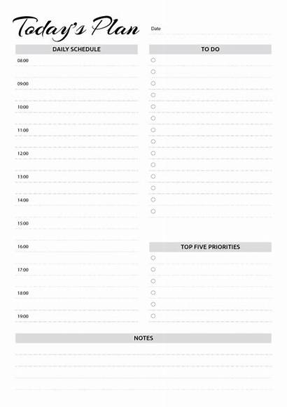 Planner Daily Schedule Printable Templates Hourly Template