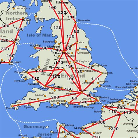 Carte Angleterre Grandes Villes by Map Of Cities Toursmaps