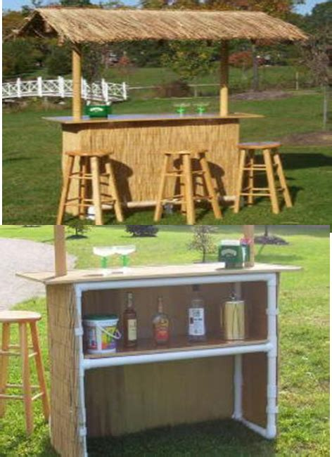 Build A Tiki Bar by Build Your Own Tiki Hut With Pipes And Wood Ideas Tiki