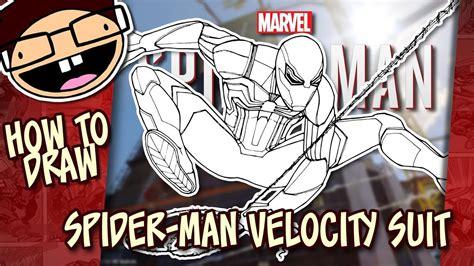 draw spider man velocity suit spider man ps