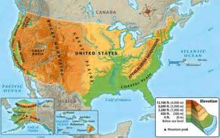 United States Physical Geography Map