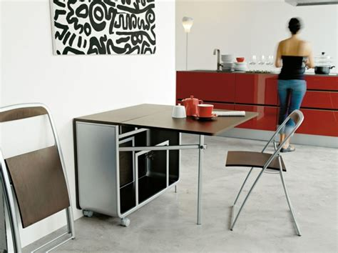 table pour la cuisine la table de cuisine pliante 50 idées pour sauver d 39 espace