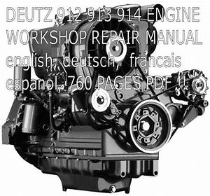 Details About Deutz 912 913 914 Engine Service Manual