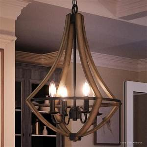 Shop, Luxury, Farmhouse, Chandelier, 24, U0026quot, H, X, 18, 25, U0026quot, W, With, Rustic, Style, Wood, Grain, Metal, With