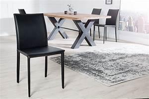 Esszimmerstühle Leder Schwarz : exklusiver design stuhl milano echtleder schwarz ziernaht ~ Watch28wear.com Haus und Dekorationen