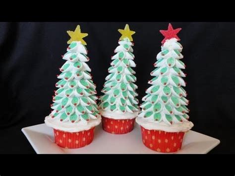 christmas tree cupcakes youtube