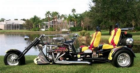 v8 powered trike sprints from 0 to 60mph in 2 seconds